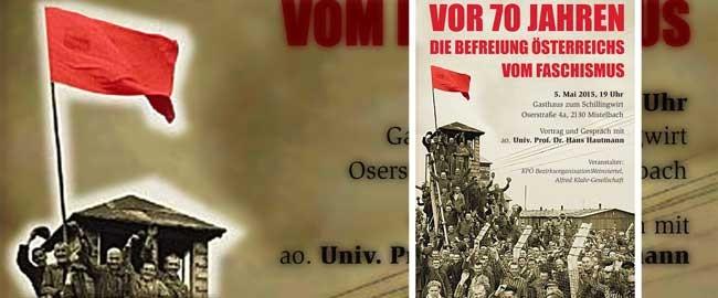 EInladung zur Veranstaltung der KPOe zu 70 Jahre Befreiung vom Faschismus