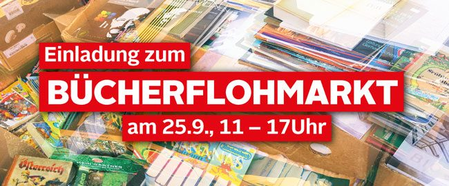 Einladung zum Bücherflohmarkt St. Pölten 25.9.2021, 11-17 Uhr